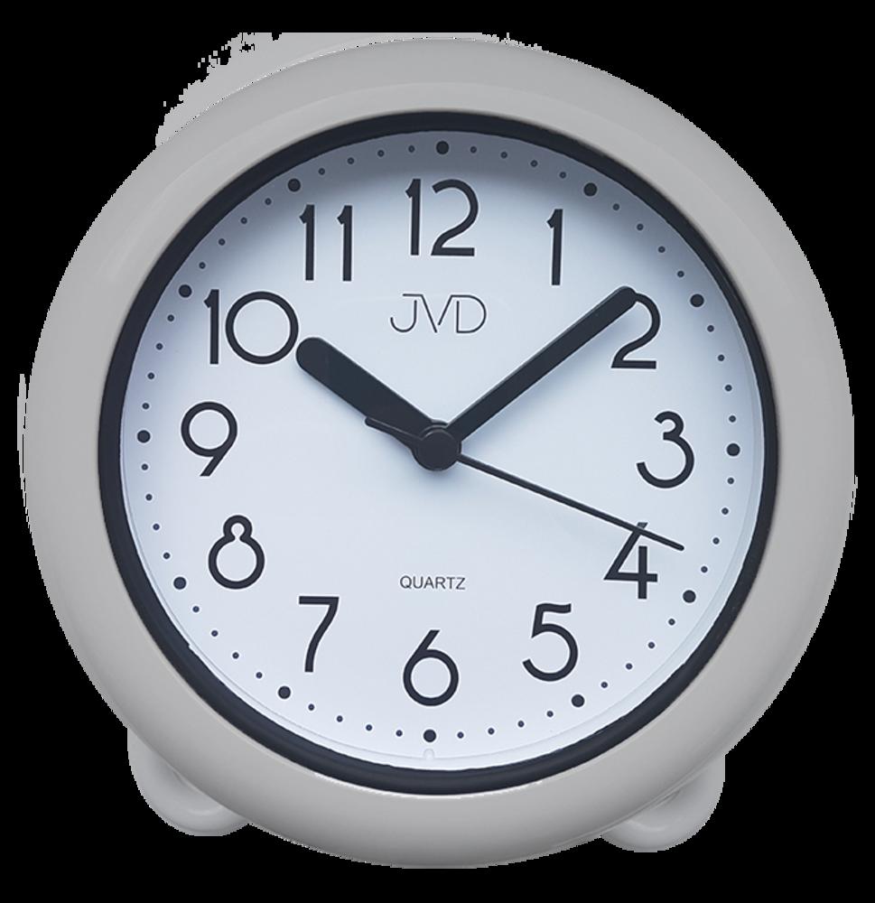 Koupelnové  hodiny JVD stříbrné SH018.1