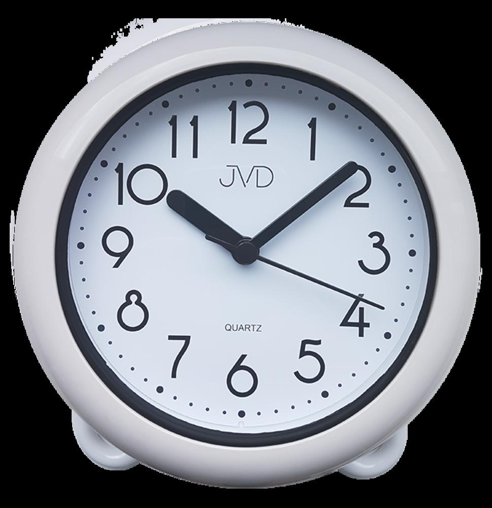 Koupelnové hodiny JVD bílé SH018
