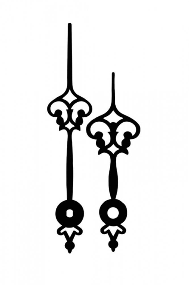 Ručky kovové pár - černé gotika
