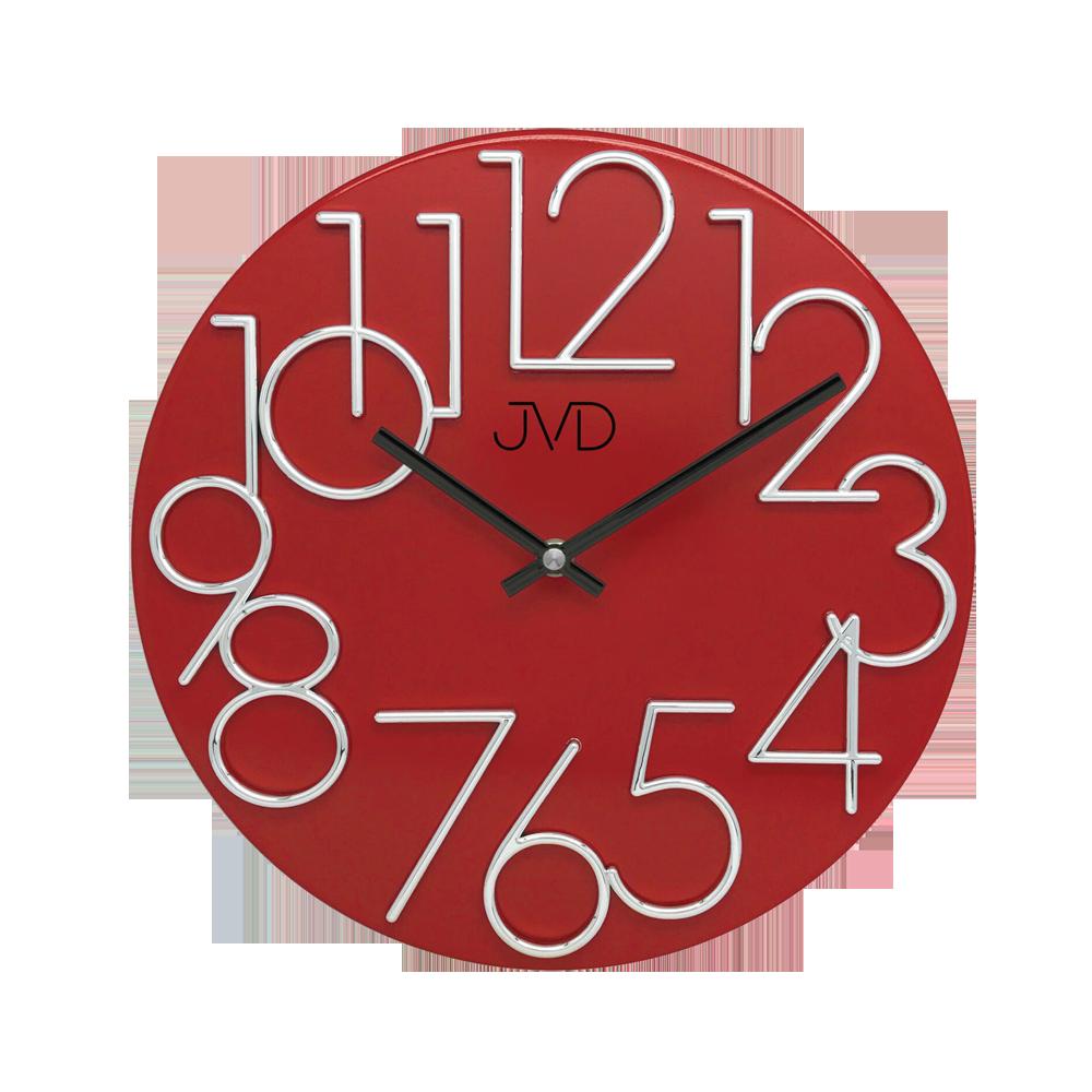 Hodiny JVD červené HT23.7