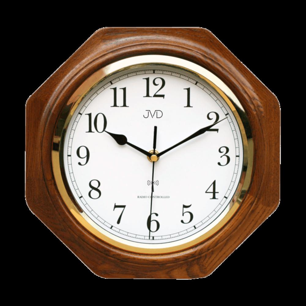 JVD Rádiem řízené dřevěné nástěnné hodiny JVD NR7172.1