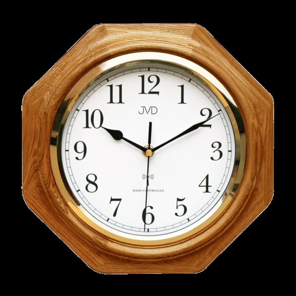 JVD Rádiem řízené dřevěné nástěnné hodiny JVD NR7172.4