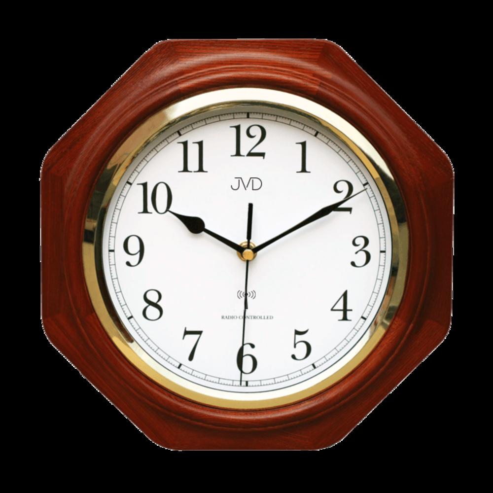 JVD Rádiem řízené dřevěné nástěnné hodiny JVD NR7172.3