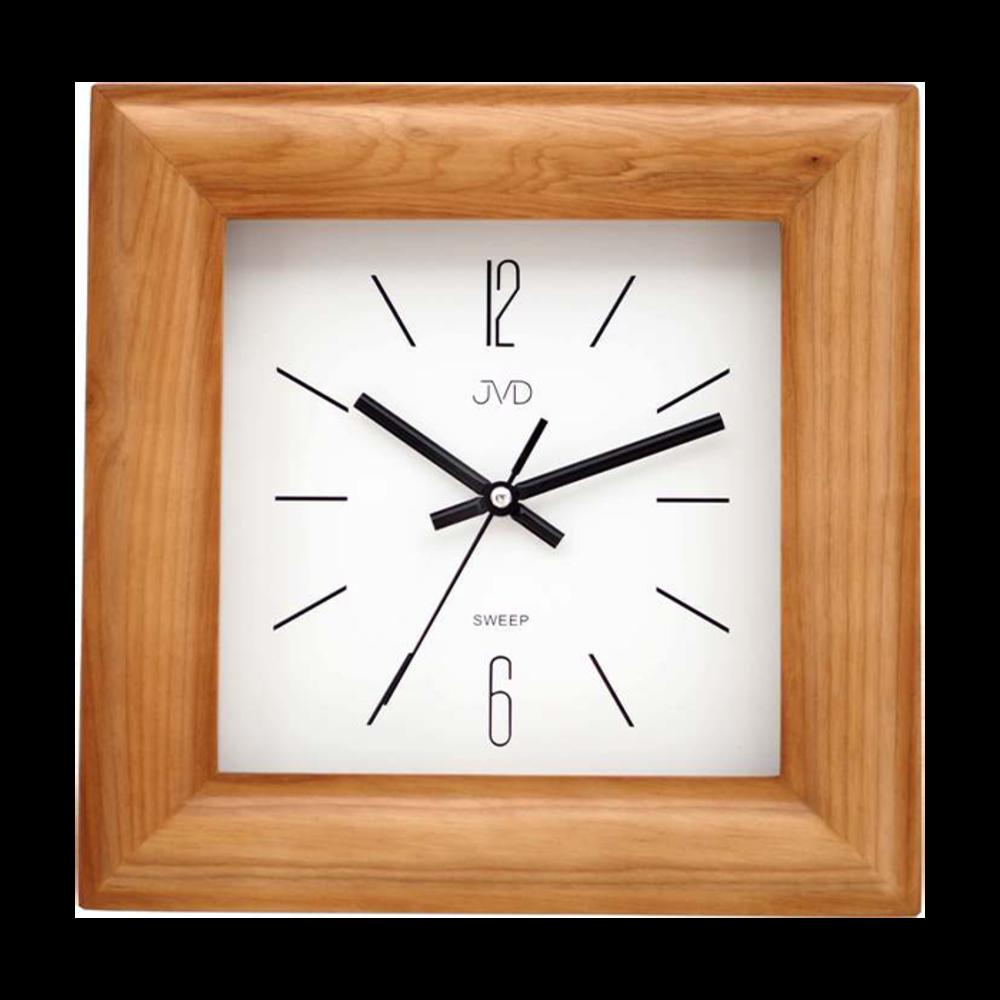JVD Nástěnné hranaté dřevěné hodiny JVD NS20183/11