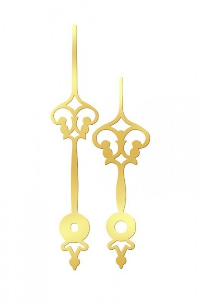 Ručky kovové pár - zlaté gotika