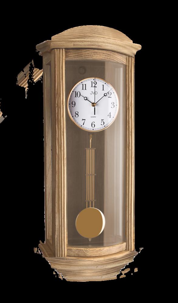 JVD Nástěnné kyvadlové hodiny JVD broušený dub N2220/78