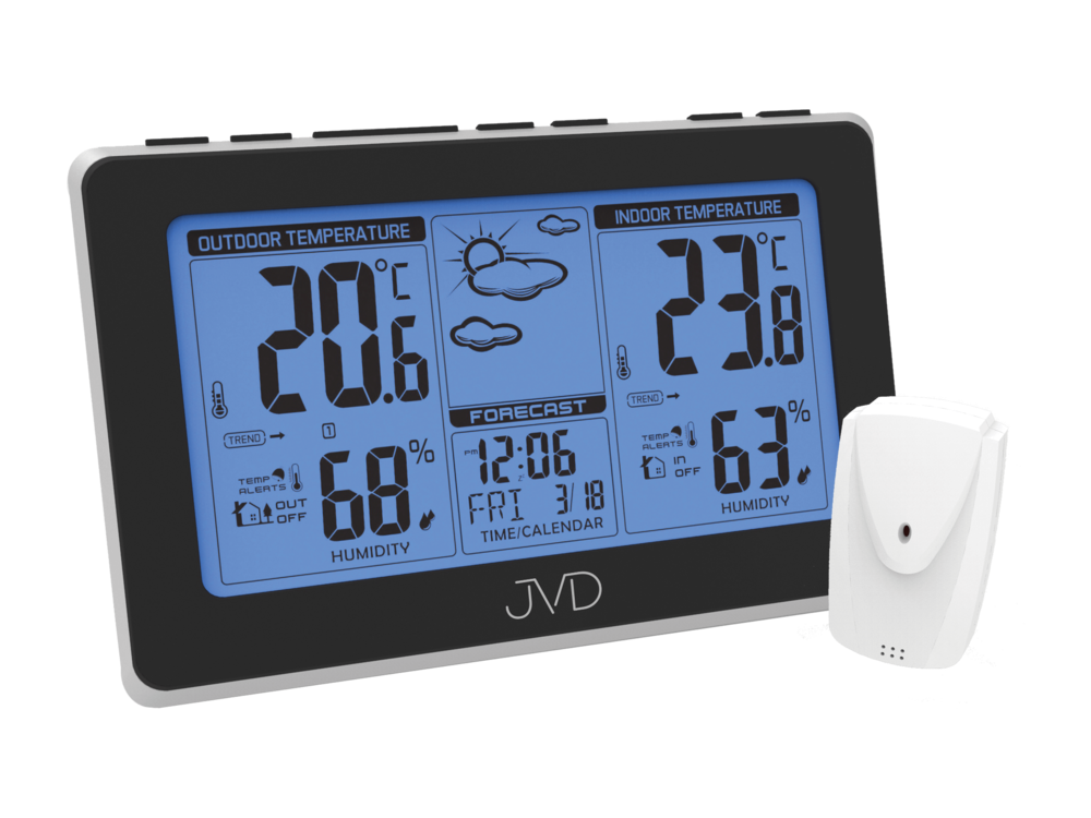 Rádiem řízená meteorologická stanice JVD RB657