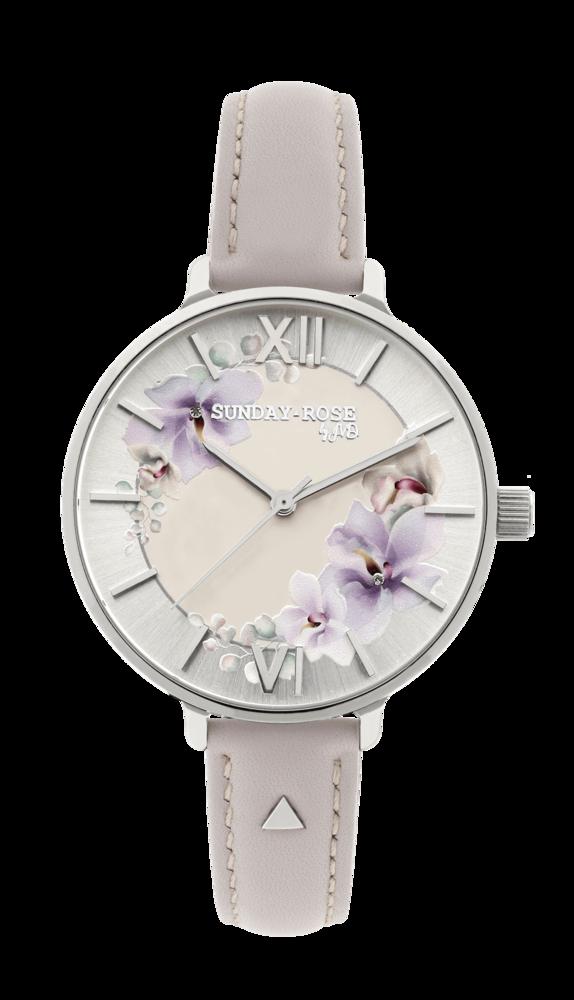 SUNDAY ROSE Dámské květinové nadčasové hodinky Spirit SUN-S10 ŘEMÍNEK