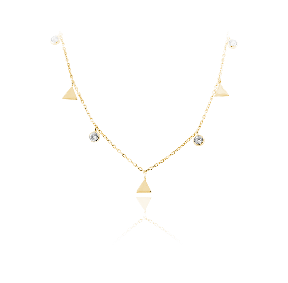 JVD Stříbrný náhrdelník SUNDAY ROSE SVLN0261SH2GO42