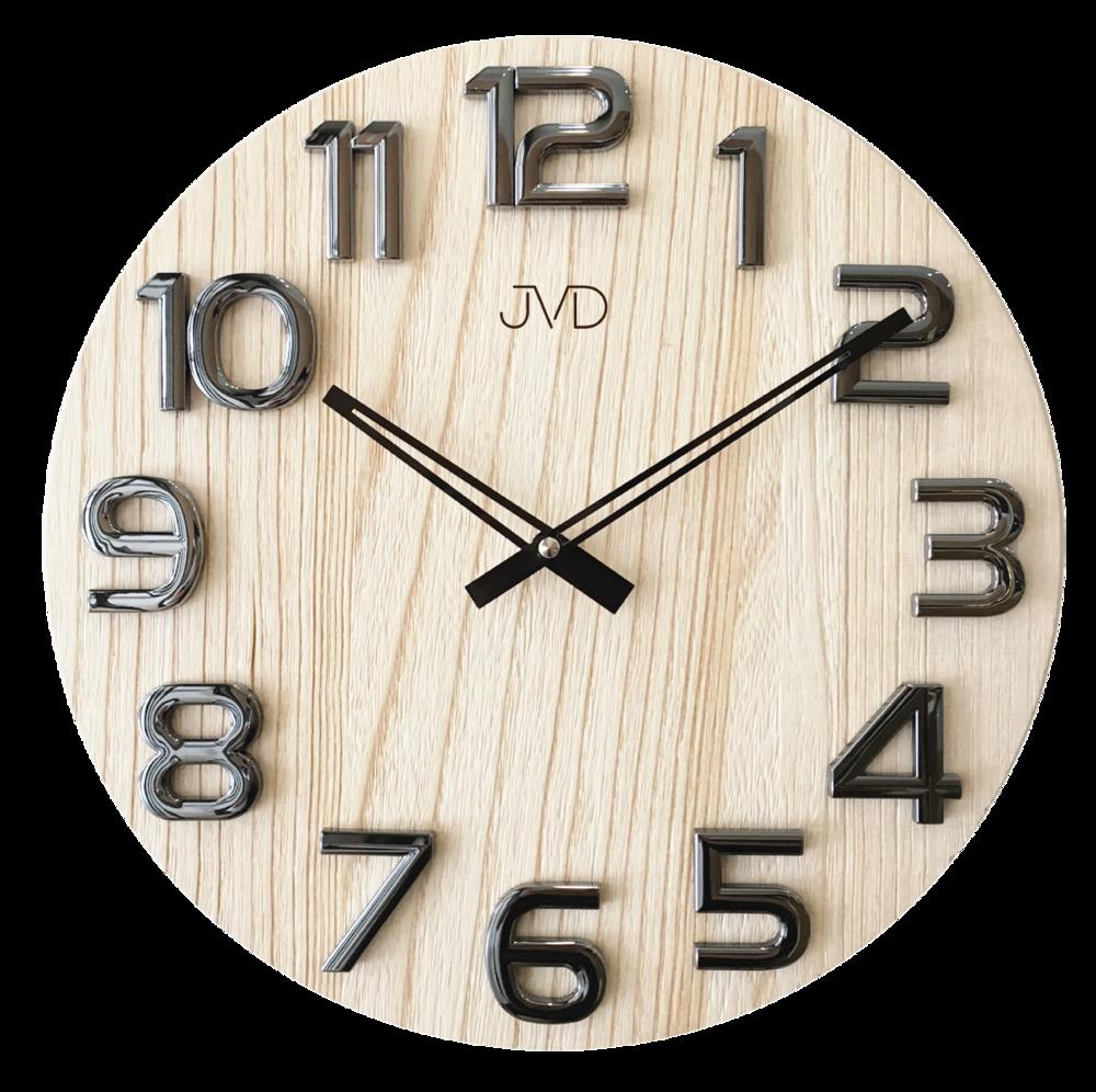Nástěnné hodiny dřevěné JVD HT97.4