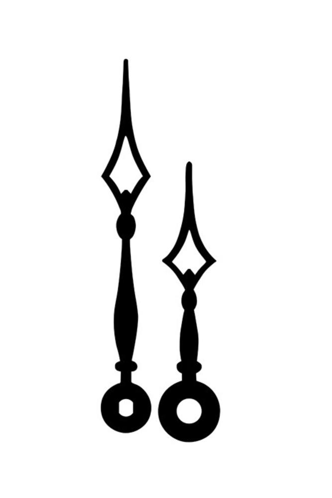 Ručky kovové pár - černé kopí