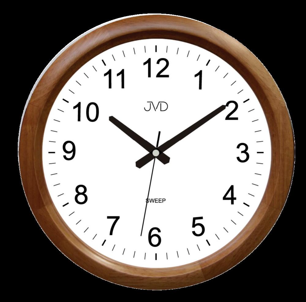 JVD Netikající tiché dřevěné nástěnné hodiny JVD NS8017.2