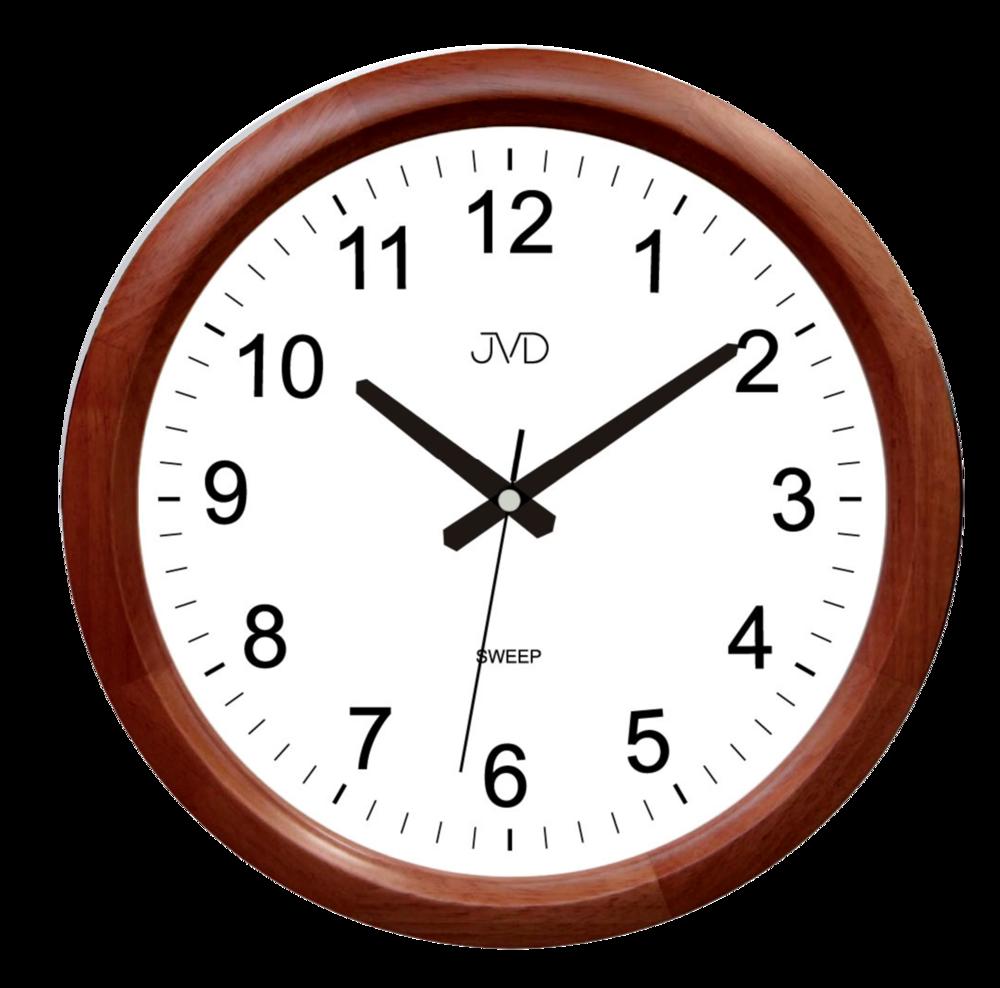 JVD Netikající tiché dřevěné nástěnné hodiny JVD NS8017.1