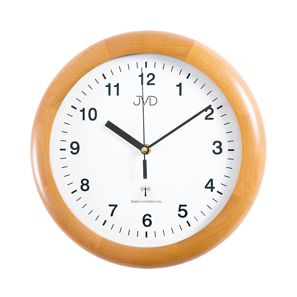 Rádiem řížené nástěnné hodiny JVD system RH2341/68