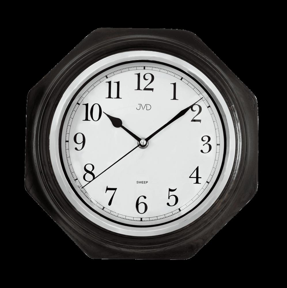JVD Netikající tiché dřevěné nástěnné hodiny JVD NS71.2