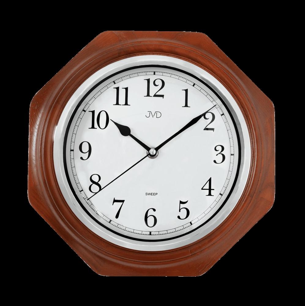 JVD Netikající tiché dřevěné nástěnné hodiny JVD NS71.3
