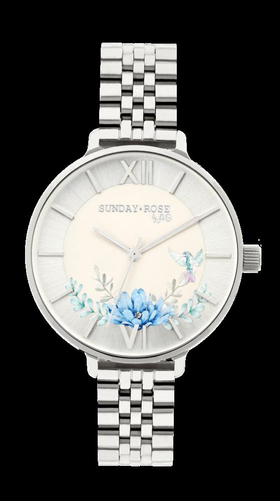 SUNDAY ROSE Dámské květinové nadčasové hodinky Spirit AZURE SUN-S16