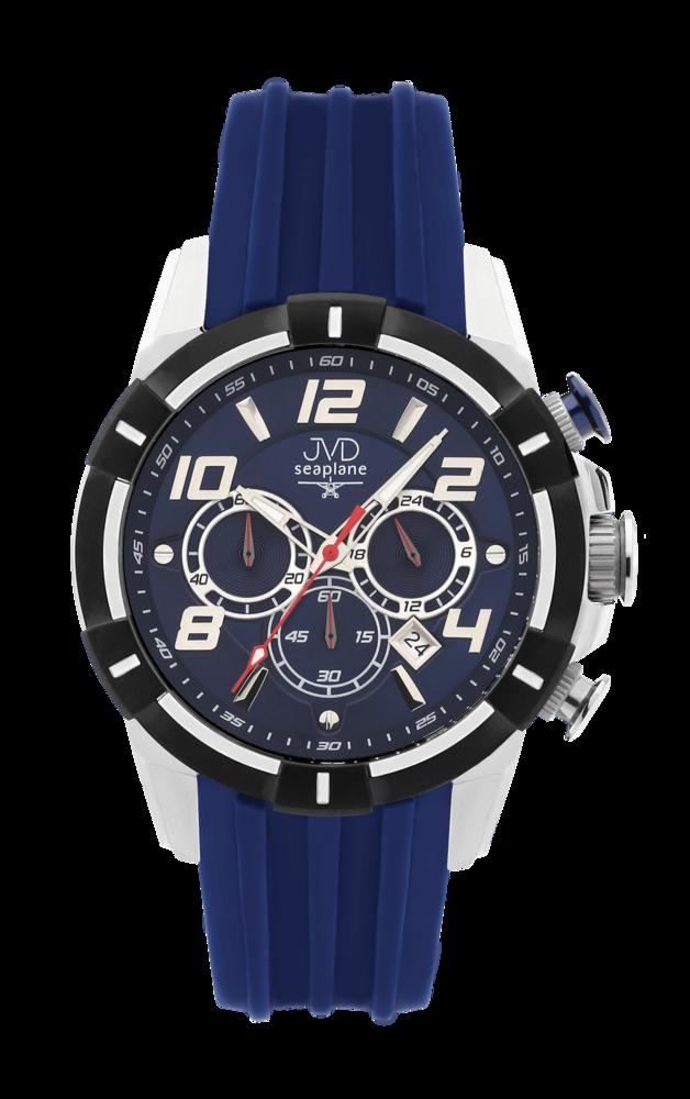 JVD Sportovní pánské vodotěsné modré náramkové hodinky JVD JE1007.2