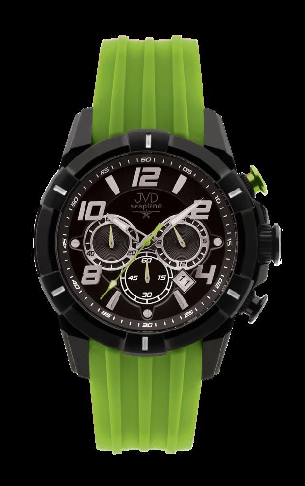 JVD Sportovní pánské vodotěsné zelené náramkové hodinky JVD JE1007.4