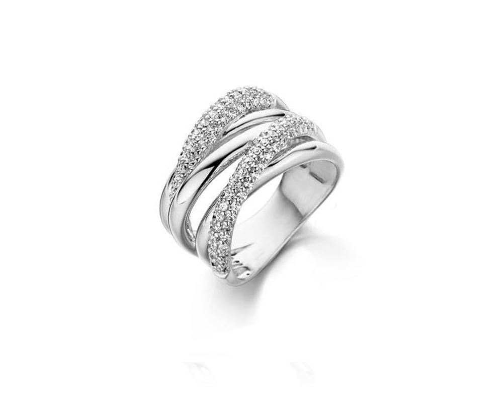 JVD Stříbrný prsten 925/1000 SVLR0304XH2BI58