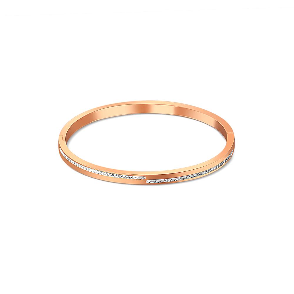 JVD růžový ocelový náramek SSSB0055XI8RO00