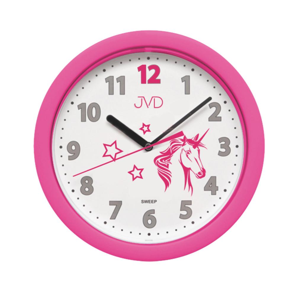 JVD Dětské růžové hodiny JVD HP612.D7