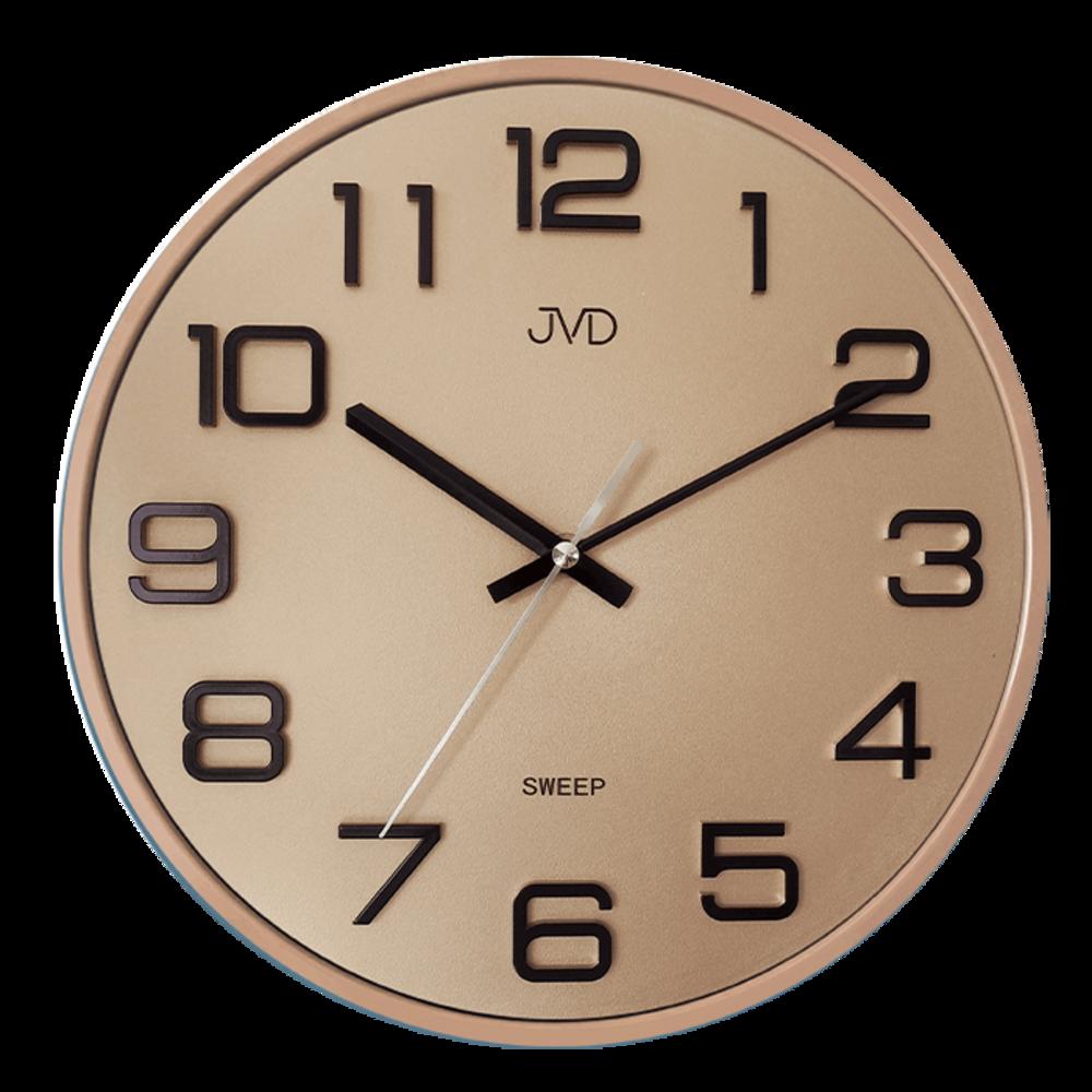 JVD Nástěnné růžovo zlaté hodiny JVD HX2472.8