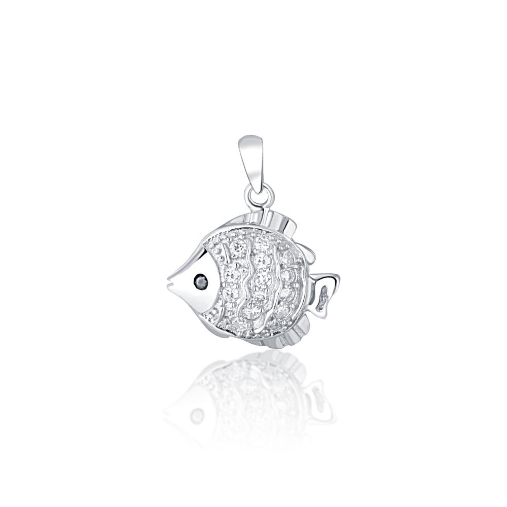 JVD Stříbrný přívěsek (ryba) SVLP0741XD5BI00