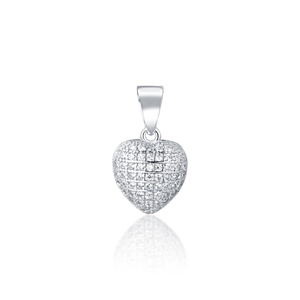 JVD Stříbrný přívěsek srdce SVLP0734XD5BI00