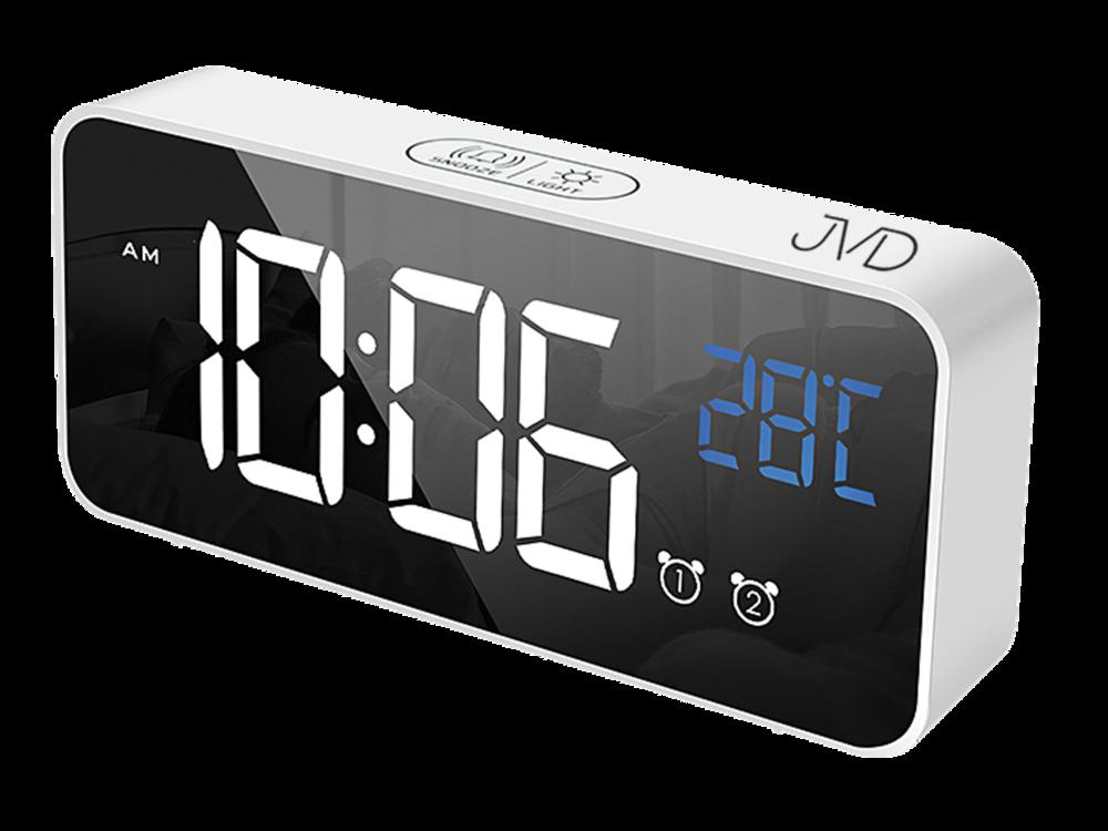 JVD Digitální budík do sítě s bílými číslicemi JVD SB8005.3