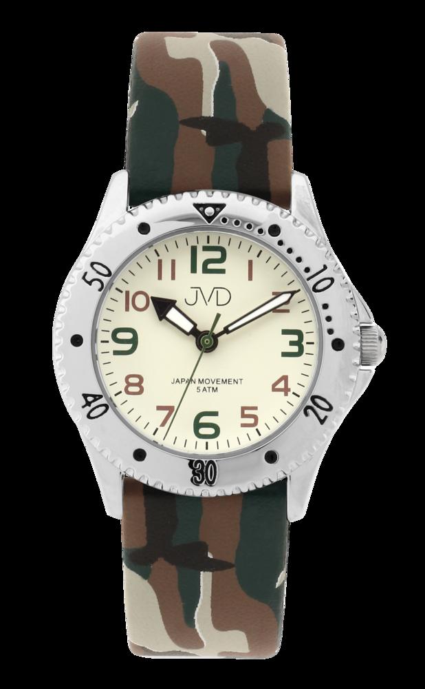 JVD Maskáčové dětské chlapecké náramkové hodinky JVD J7203.3