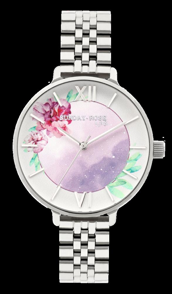 SUNDAY ROSE Dámské květinové eleganní hodinky  Enchanted Early Sunrise SUN-E01