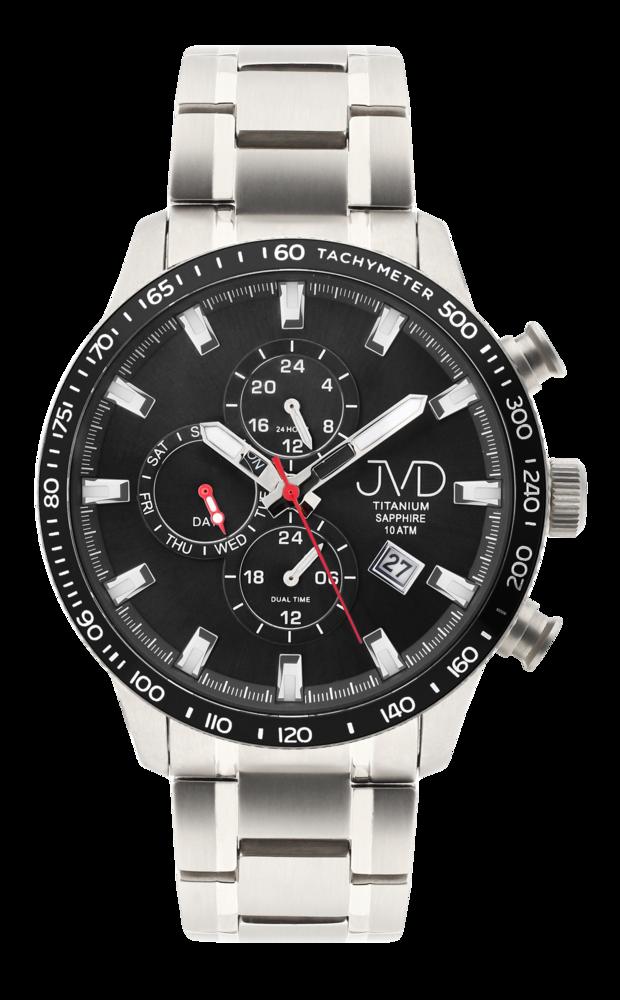JVD Pánské Titanové vodotěsné náramkové hodinky JVD JE2003.1