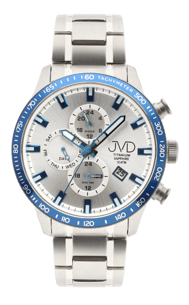JVD Pánské Titanové vodotěsné náramkové hodinky JVD JE2003.3