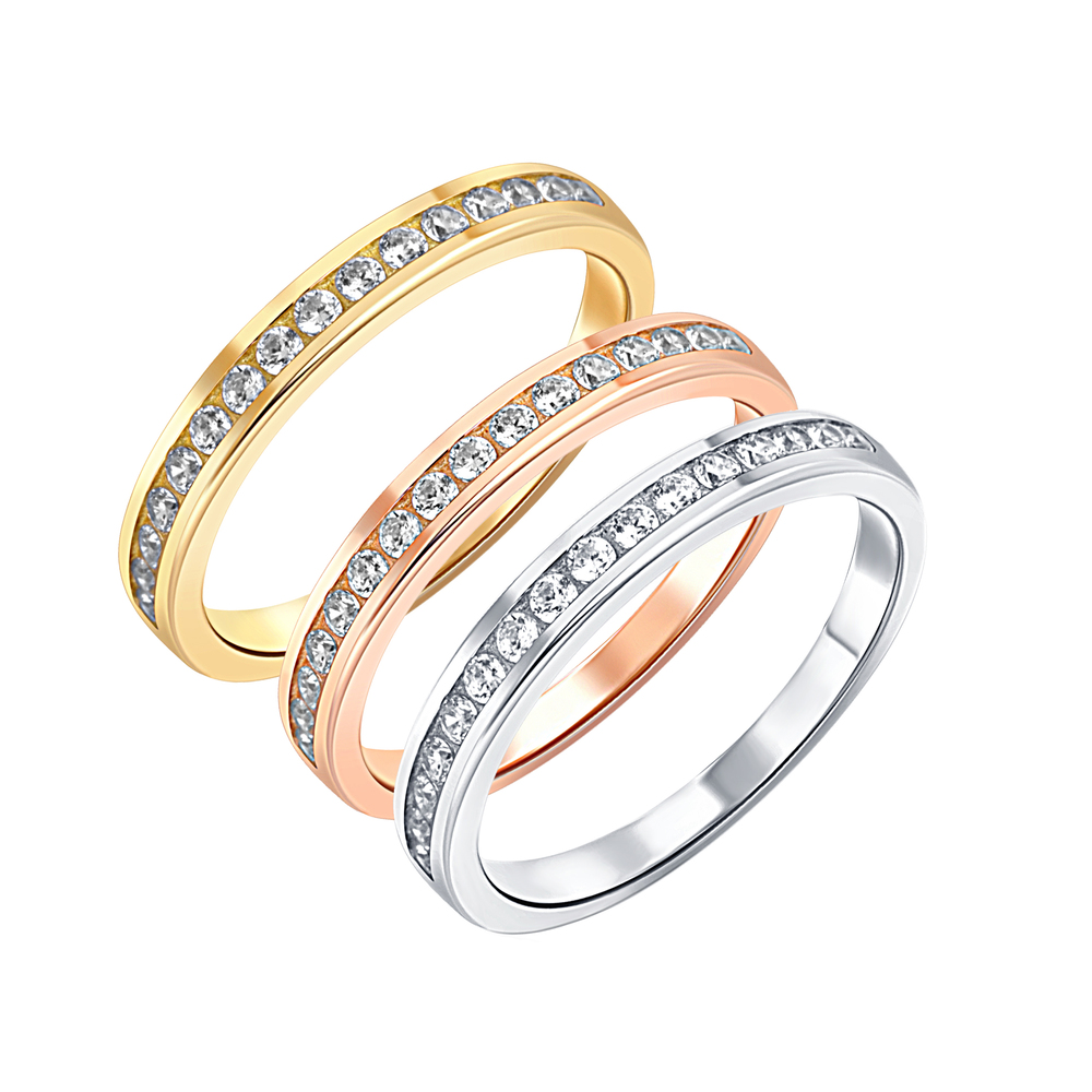 JVD Stříbrný trojbarevný dámský prsten JVD 925/1000 SVLR0392XH2TK58