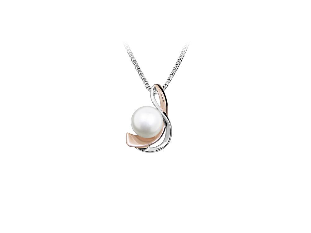 JVD Dámský stříbrný přívěšek s perlou SVLP0409SH8P100