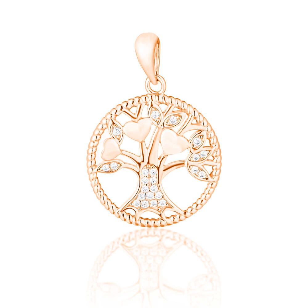 JVD Stříbrný pozlacený přívěsek - strom života SVLP0755XF6RO00