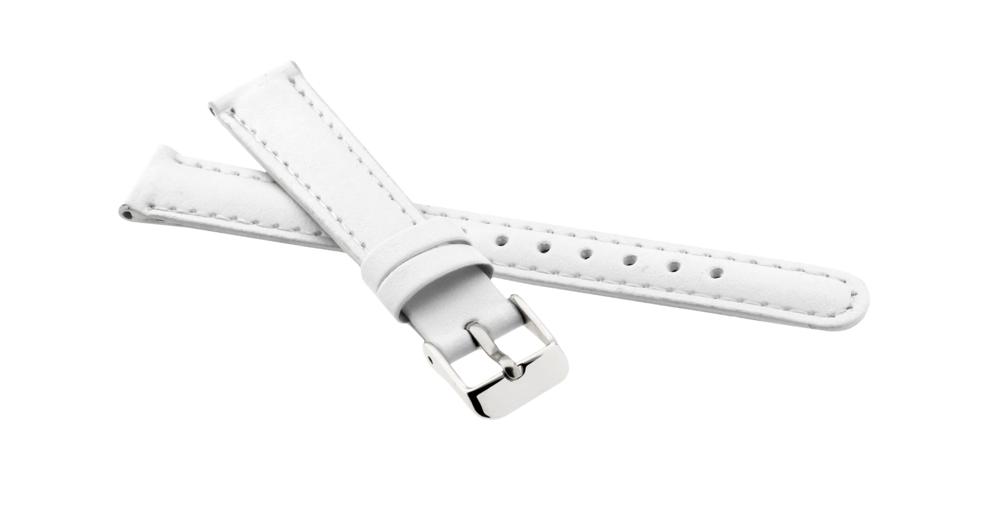 JVD Řemínek na hodinky kožený bílý JVD RJ7178.1
