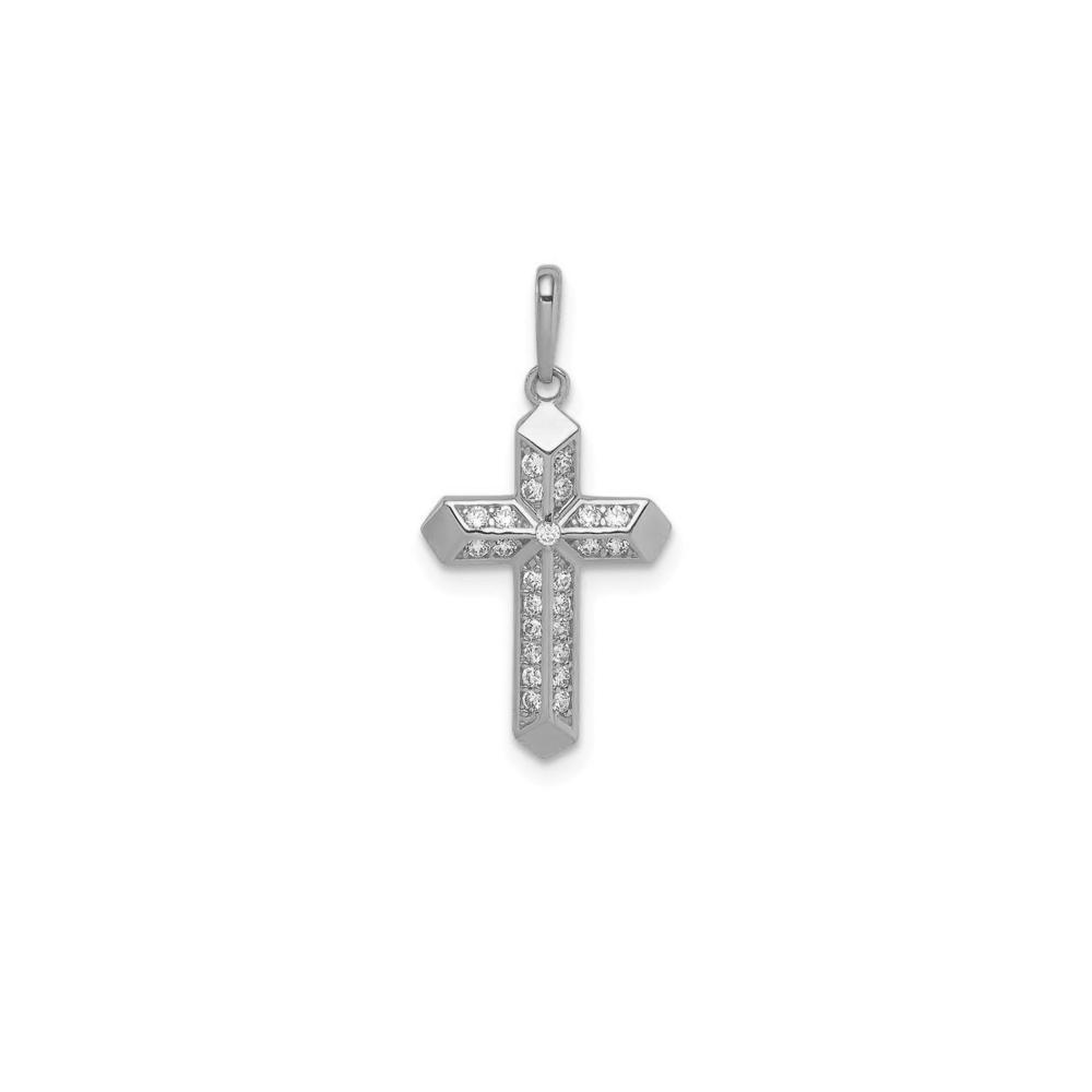 JVD Stříbrný přívěsek se zirkony KŘÍŽEK SVLP0775XH2BI00