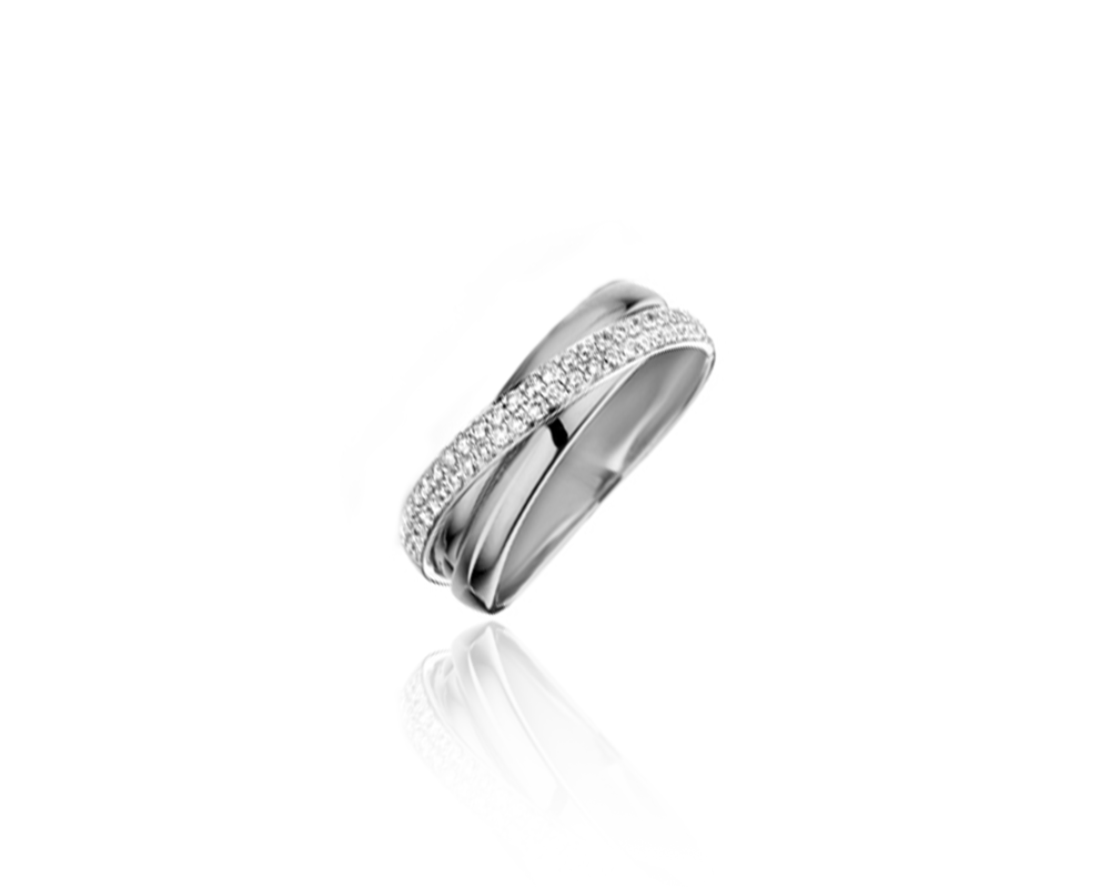 JVD Dámský stříbrný prsten posetý zirkony prsten 925/1000 SVLR0234XH2BI58