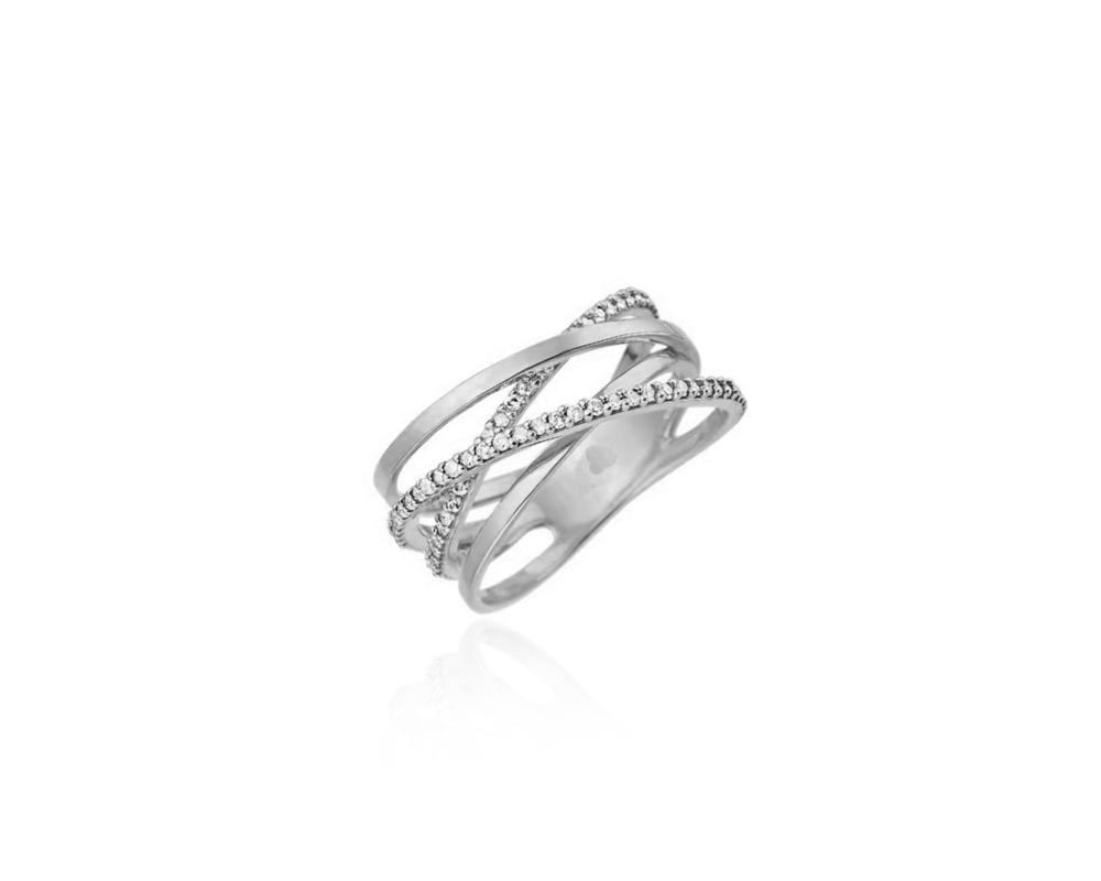 JVD Stříbrný dámský prsten 925/1000 SVLR0376XH2BI52
