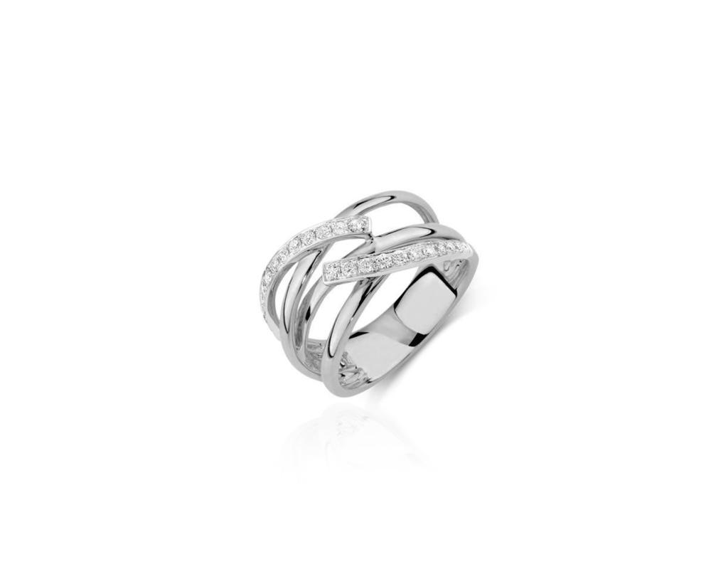 JVD Stříbrný dámský prsten 925/1000 SVLR0377XH2BI58