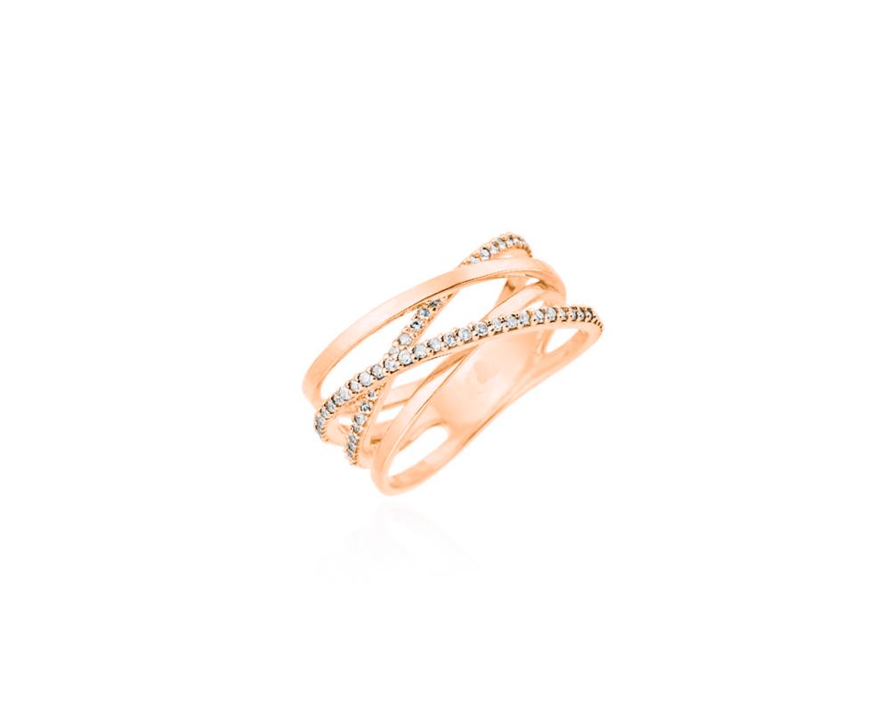 JVD Stříbrný pozlacený dámský prsten 925/1000 SVLR0376XH2RO60