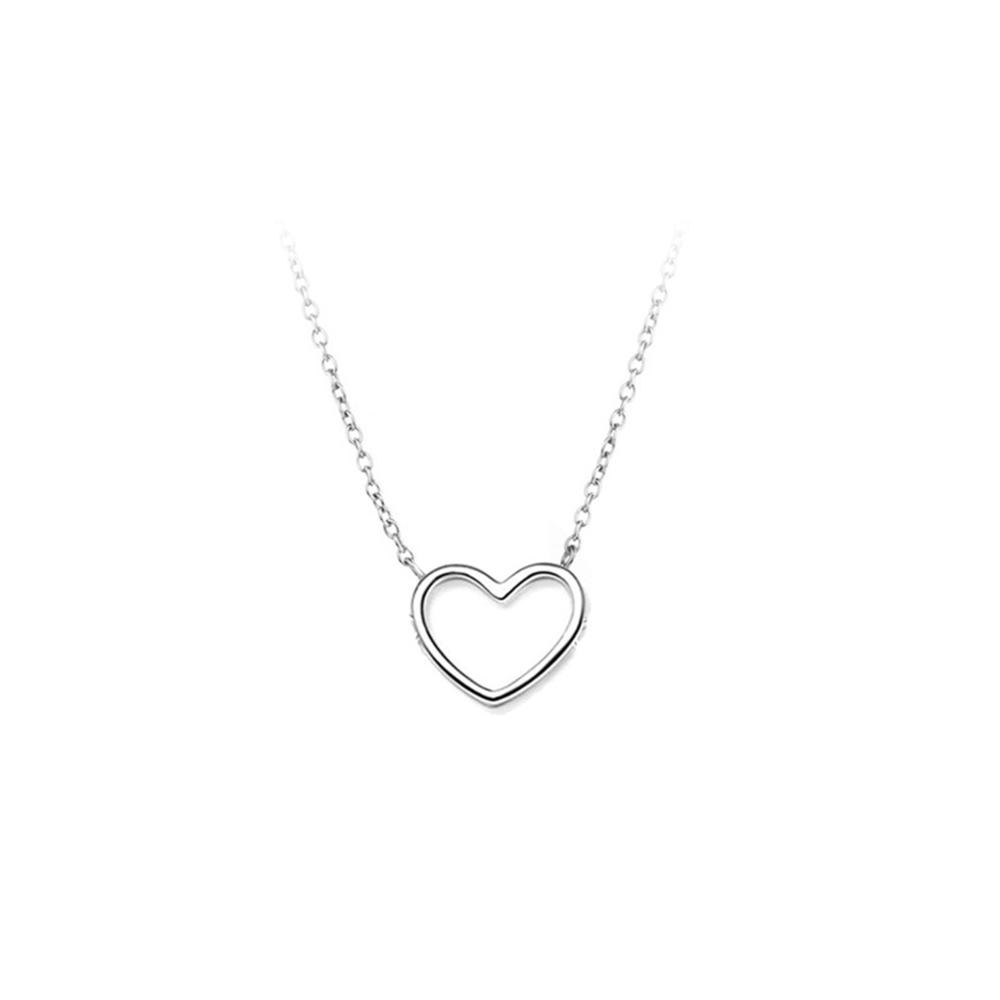 JVD Dámský stříbrný náhrdelník se srdíčkem SVLN0202SH20045
