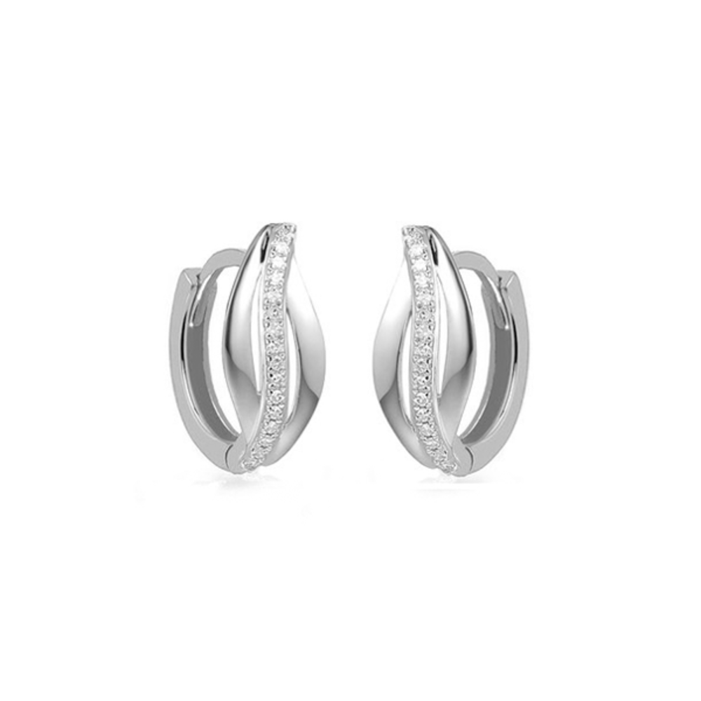 JVD Dámské stříbrné náušnice SVLE1139XH2BI00