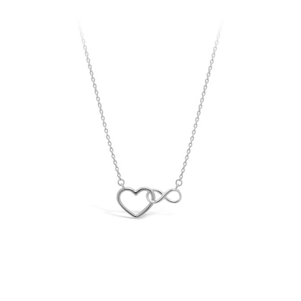 JVD Dámský stříbrný náhrdelník se srdíčky SVLN0201SH20045
